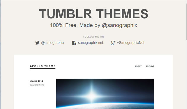 Tumblr themes by sanographix
