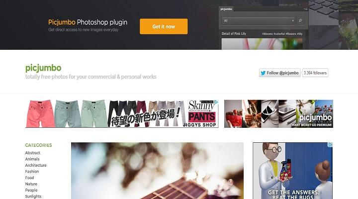 picjumbo — totally free photos for your commercial & personal works